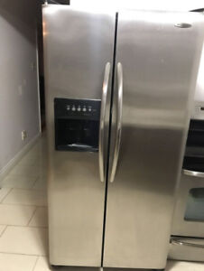 Frigidaire stainless steel fridge for sale 33w 31d 68h
