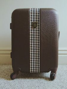 Hard Carry-On Luggage (Brown)