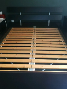 IKEA double bed frame black brown sale $180