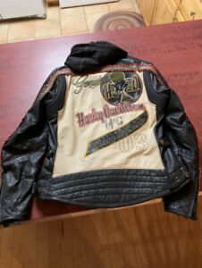 Ladie's Harley Davidson leather jacket ( 3 in 1) size large