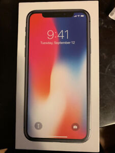 iPhone X 256 GB Space Grey Factory Unlocked