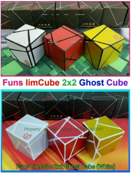 = (new color) Funs limCube 2x2 Ghost Cube Rubiks Cube for Sale in Singapore
