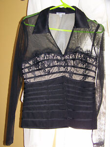 Size 8 - Designer Domani top (must see) and 2  stylish dresses