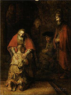 Return of the Prodigal Son, c. 1669 Art Print By  Rembrandt van Rijn - 24x32