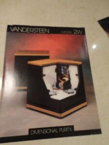Set of 3 Vintage 90s Audiophile Equipment Brochures- Vandersteen Kitchener / Waterloo Kitchener Area image 2