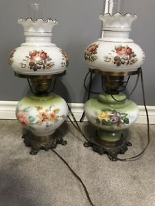 """Antique lamps Approx 21"""" tall"""