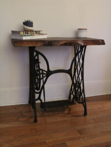 Live Edge Singer Sewing  table
