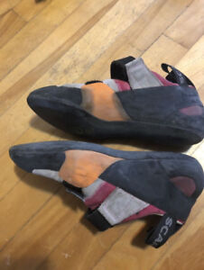 Scarpa Rock Climbing Shoes and Chalk - Excellent Condition