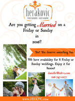 Calling all 2016 Friday or Sunday Brides and Grooms!