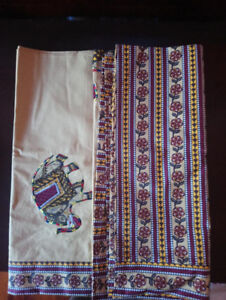 Indian Style Bed sheet with 2 matching pillow cover