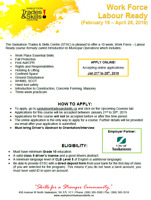 Work Force Labour Ready - 10 Weeks - PAID TRAINING