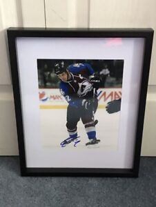 Colorado Avalanche Adam Foote signed and framed photo