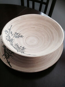 Wooden Bowl & Plate