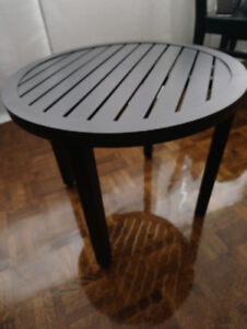Outdoor Indoor Patio Coffee Side Table Black Steel Like New