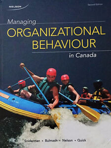 Managing Organizational Behaviour in Canada 2nd Canadian Edition