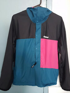 Palace Truss Packer Jacket - Black/Teal M