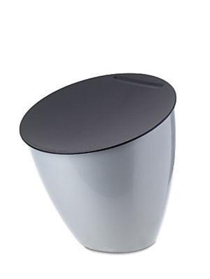 ROSTI MEPAL Abfallbehälter CALYPSO silber Tischmülleimer Tischabfallbehälter NEU