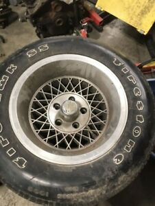 Chevy Corvette rims and tires