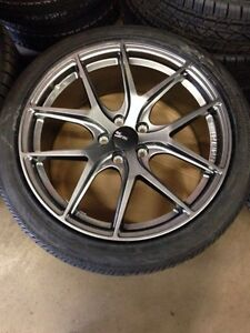 "19"" FC04 Gunmetal rims with Continental Tires (5000kms)"