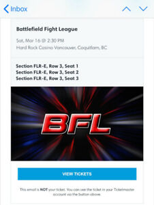 Battlefield fight league 3 TIX this Saturday March 16th