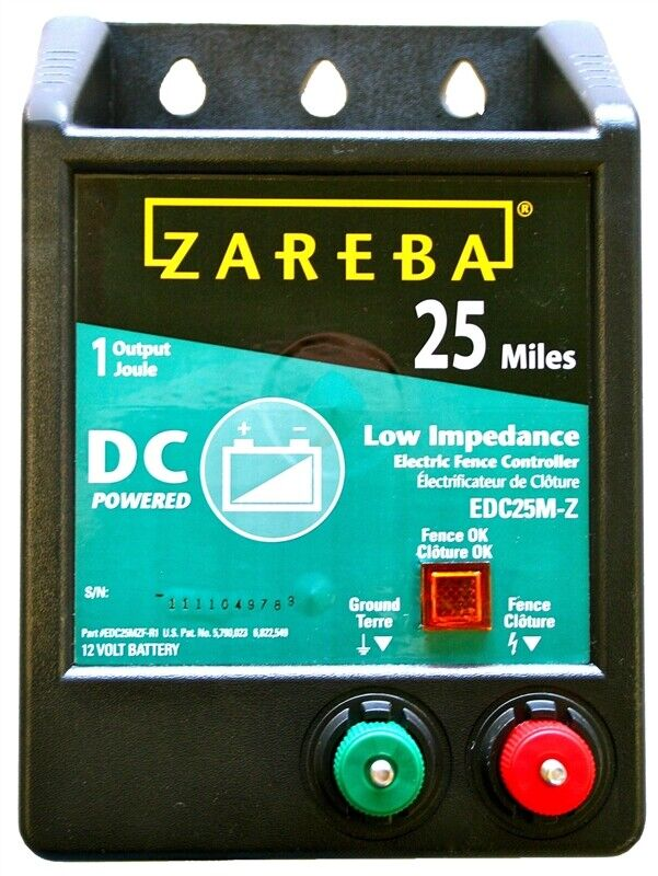 Zareba EDC25M-Z 25-Mile Battery Operated Low Impedance Elect