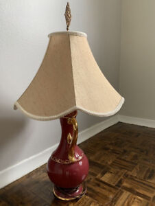 Collectible porcelain table lamp