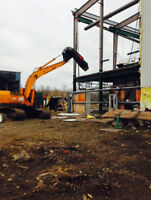 large steel structor demolition recycling services and torching