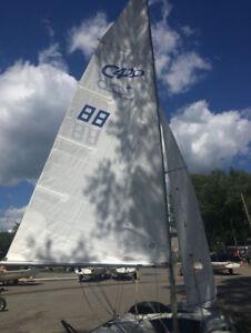 420 Main sail and Jib