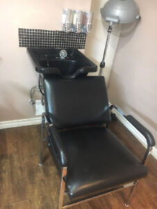 Hair Salon Washing Chair and Sink