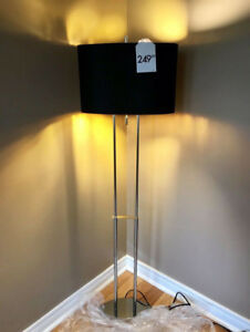MODERN CONTEMPORARY SLEEK CHROME LAMP$95 RETAIL$249.99 ,BRAND NE