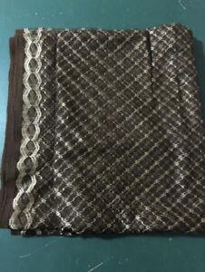 Brown and Gold Net saree