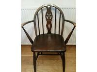 Vintage Ercol Spoonback Stunning Chair Dark Brown Furniture London England