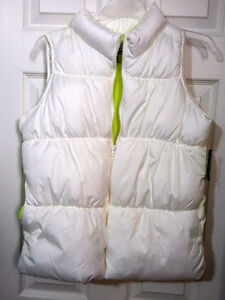 OLD NAVY WINTER PUFFER VEST WHITE - BRAND NEW WITH TAG