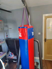 Punching bag with very sturdy stand.