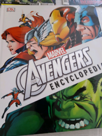 Avengers encyclopedia, batman comics issues 1 and 2, carnage issue 2