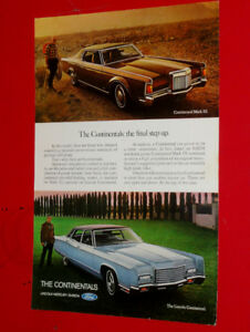 1970 LINCOLN CONTINENTAL MARK III & SEDAN AD + BOEING 747 JET