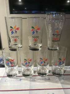 7 verres olympiques Nagano, Sydney verre jeux Olympique