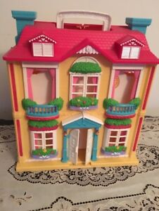 Dolls house with dolls and furniture. AVAILABLE