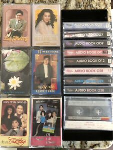 15 Vietnamese cassette tapes and storage unit