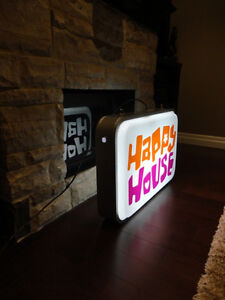 ONE OF A KIND Happy House Dual Sided Fluorescent Hanging Sign Kitchener / Waterloo Kitchener Area image 5