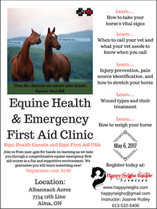 Equine First Aid Course - May 6th 2017