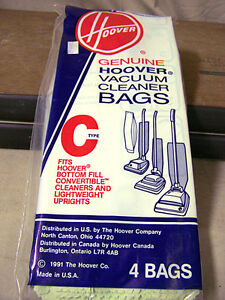 Hoover Vacuum Cleaner Bags Type C NEW in Package