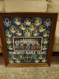Vintage 1970's Wood Framed Maple Leafs Poster -Great Memorabilia Kitchener / Waterloo Kitchener Area image 6