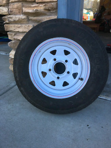 5.30-12 trailer tire and wheel(5holes)