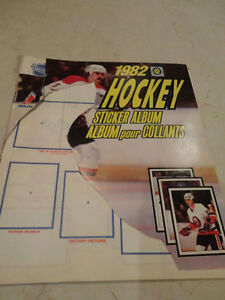 1982 NHL Hockey Sticker Album Kitchener / Waterloo Kitchener Area image 1
