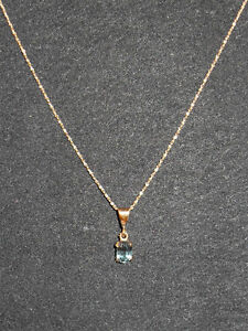 10kt yellow gold December Birthstone  - Pendant