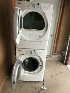 Whirlpool washer and front load GAZ dryer set for sale