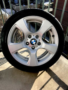 MAGS BMW ORIGINALES + pneus Run flat Continental 17 pouces