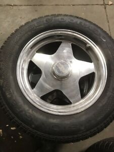 Chevy 15x7 rims and tires, like new