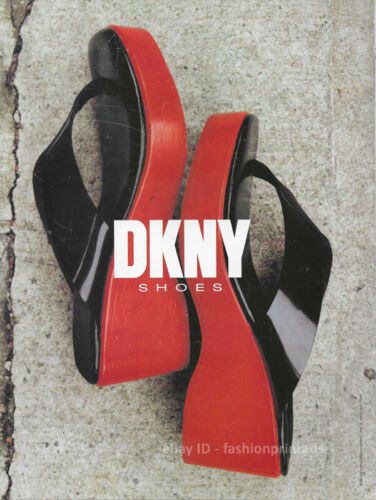 Vintage DKNY Shoes 1-Page Magazine PRINT AD Spring 1997